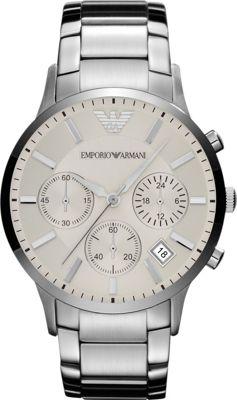 Emporio Armani Sportivo Watch Silver - Emporio Armani Wat...