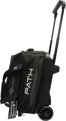 Pyramid Path Double Deluxe Roller Bowling Bag Black - Pyramid Bowling Bags