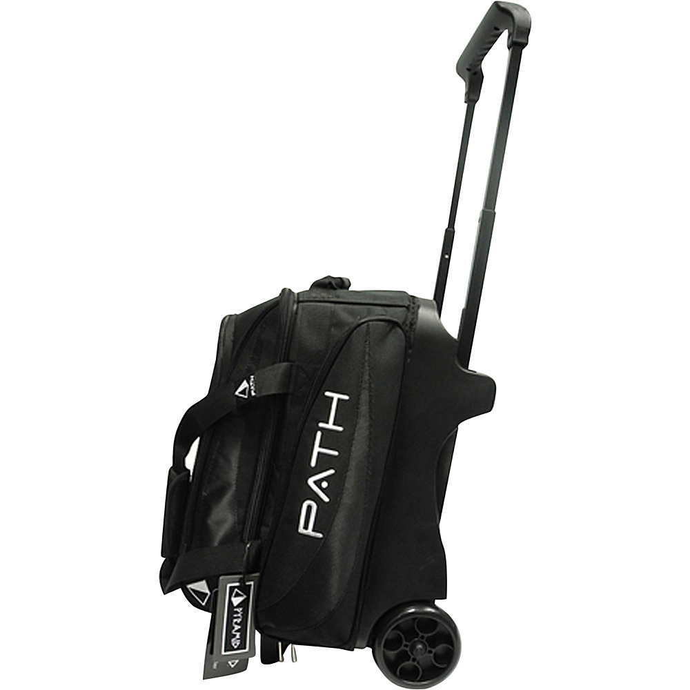 Pyramid Path Double Deluxe Roller Bowling Bag Black Pyramid Bowling Bags