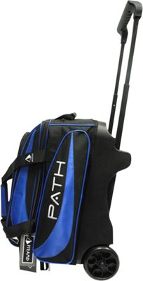 Pyramid Path Double Deluxe Roller Bowling Bag Royal Blue - Pyramid Bowling Bags