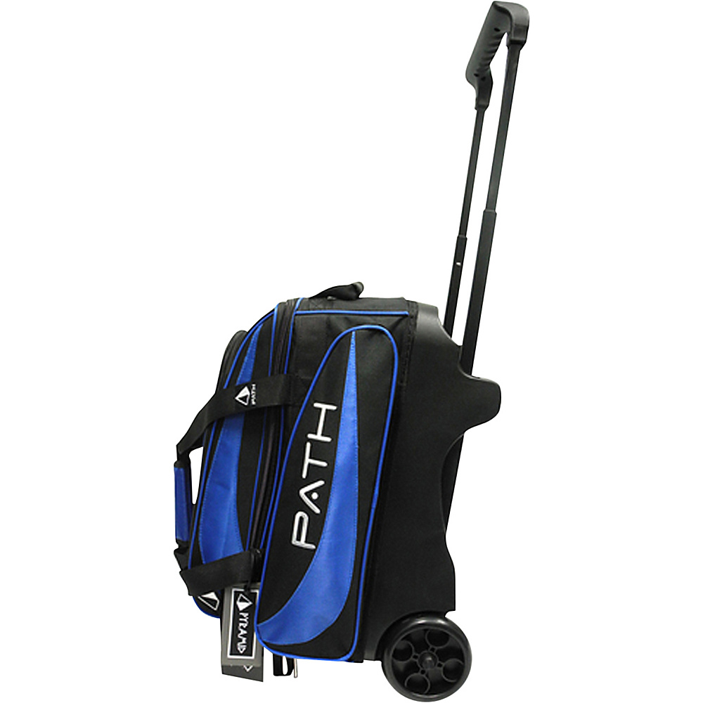 Pyramid Path Double Deluxe Roller Bowling Bag Royal Blue Pyramid Bowling Bags