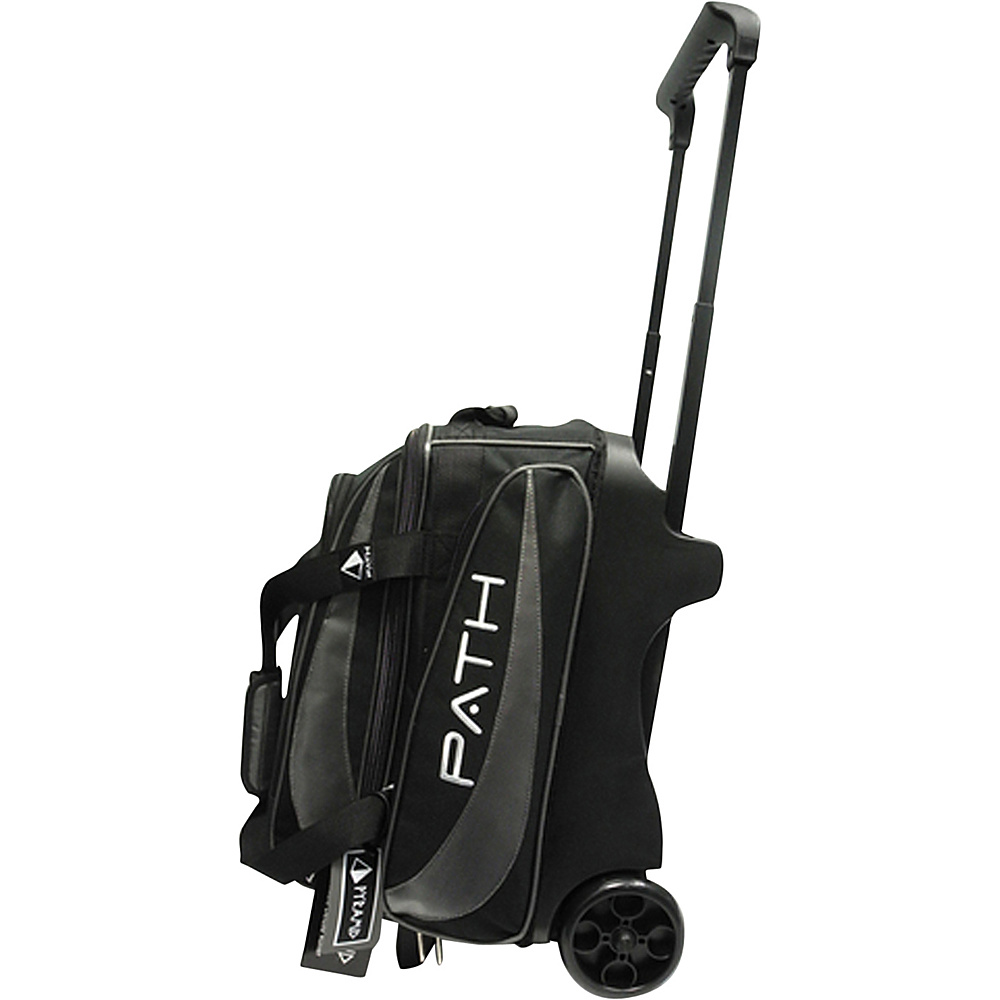Pyramid Path Double Deluxe Roller Bowling Bag Silver Pyramid Bowling Bags