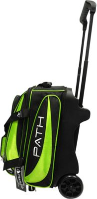 Pyramid Path Double Deluxe Roller Bowling Bag Lime Green - Pyramid Bowling Bags