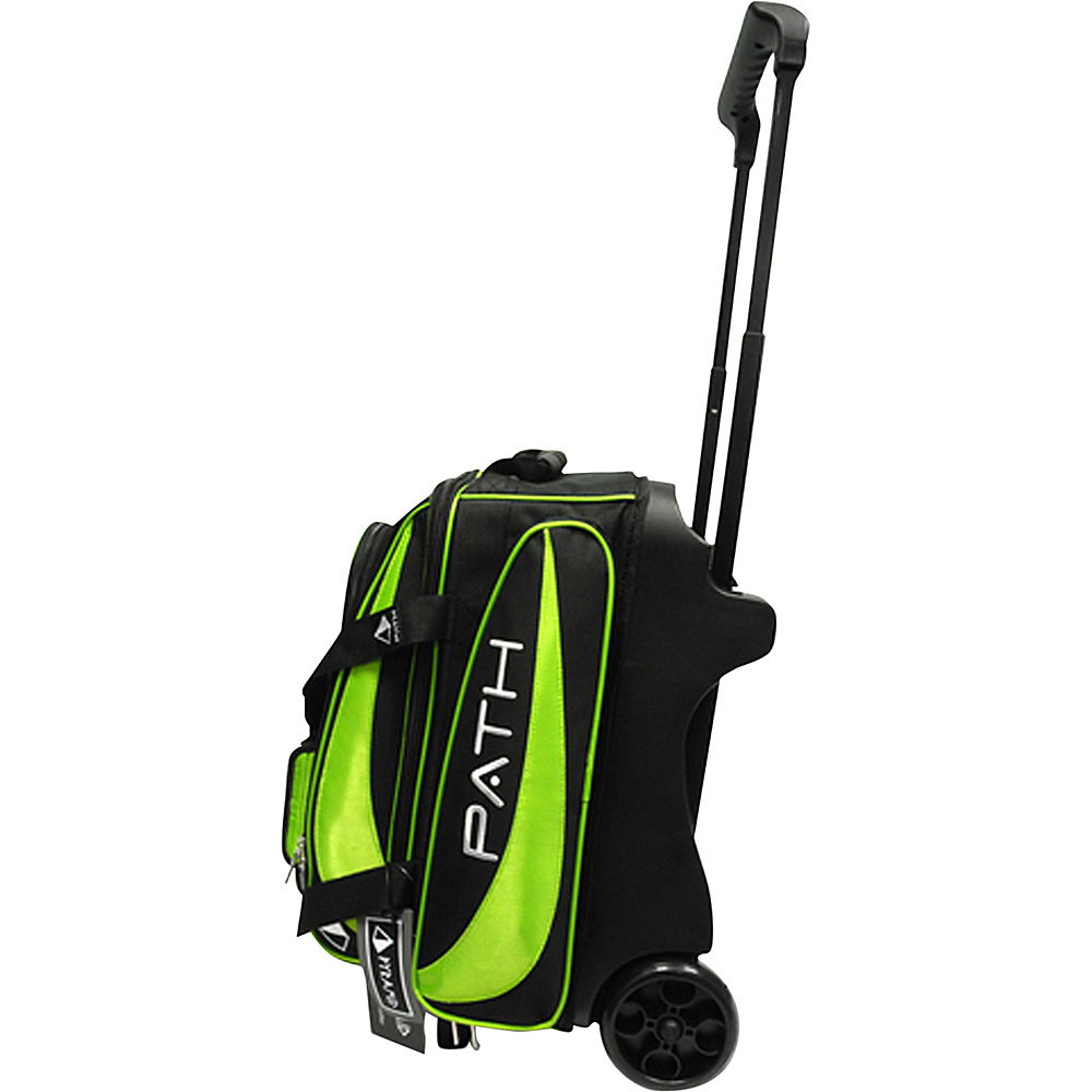Pyramid Path Double Deluxe Roller Bowling Bag Lime Green Pyramid Bowling Bags