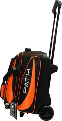 Pyramid Path Double Deluxe Roller Bowling Bag Orange - Pyramid Bowling Bags