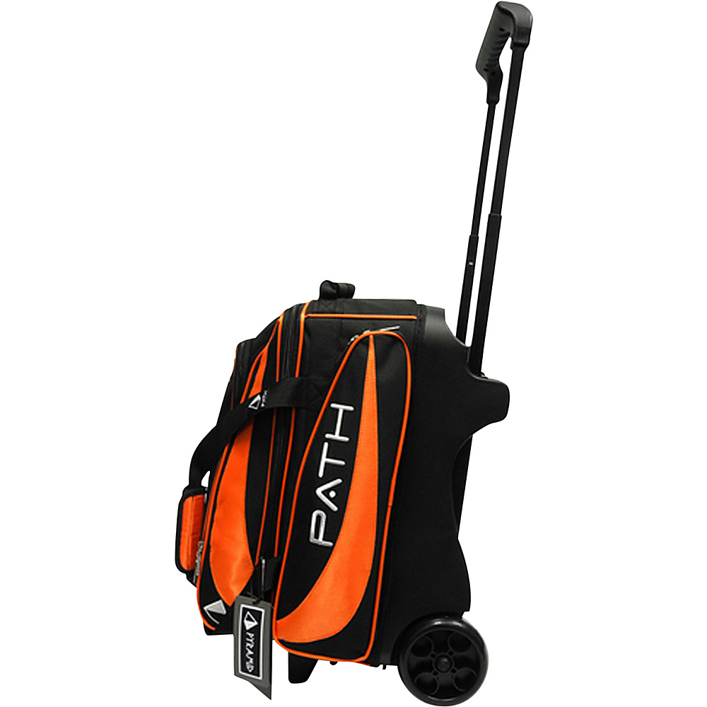 Pyramid Path Double Deluxe Roller Bowling Bag Orange Pyramid Bowling Bags