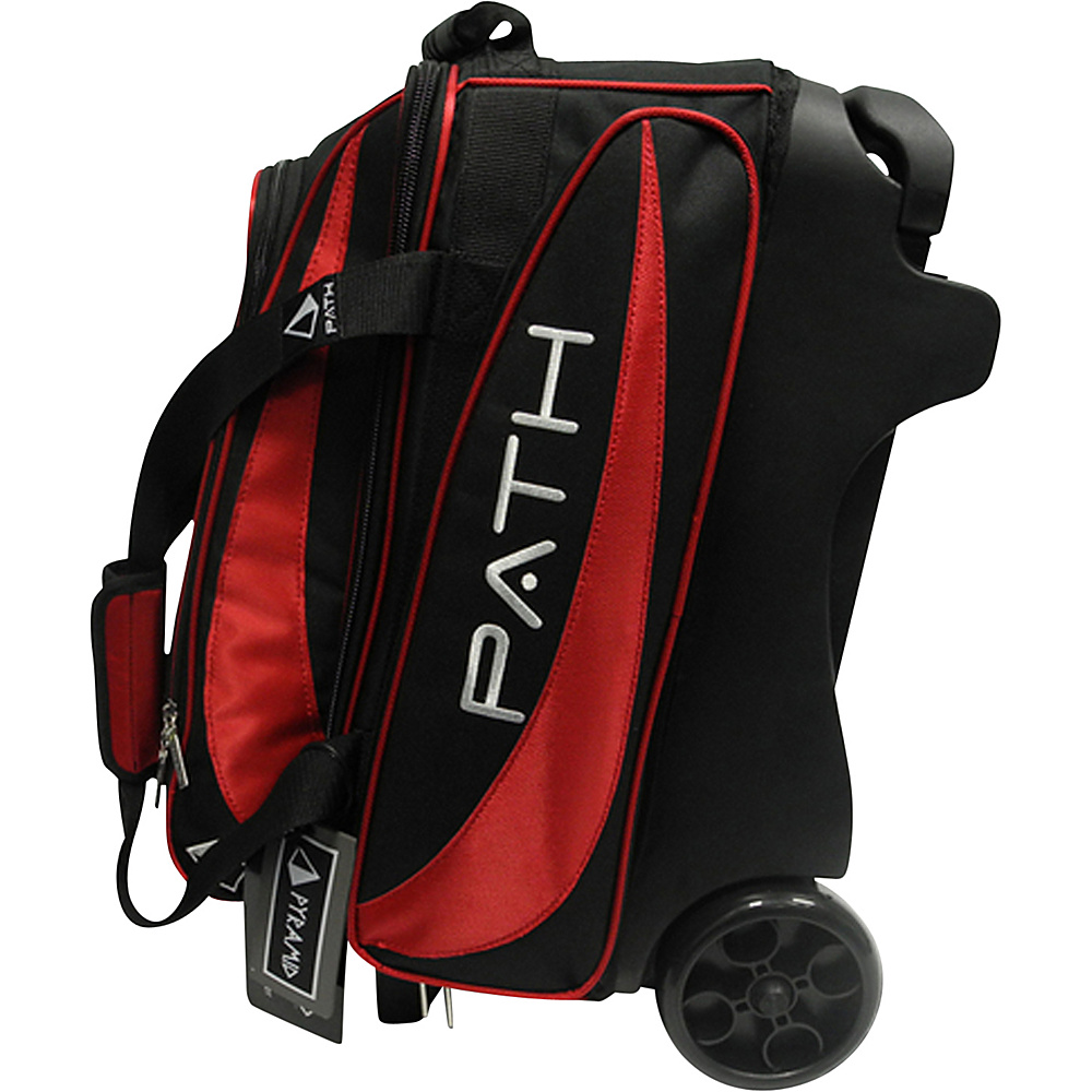 Pyramid Path Double Deluxe Roller Bowling Bag Red Pyramid Bowling Bags