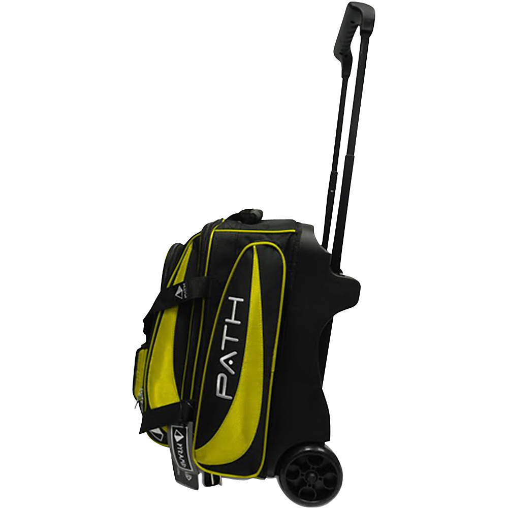 Pyramid Path Double Deluxe Roller Bowling Bag Yellow Pyramid Bowling Bags