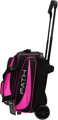 Pyramid Path Double Deluxe Roller Bowling Bag Hot Pink - Pyramid Bowling Bags