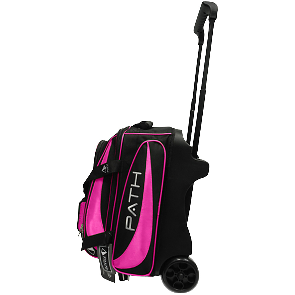 Pyramid Path Double Deluxe Roller Bowling Bag Hot Pink Pyramid Bowling Bags