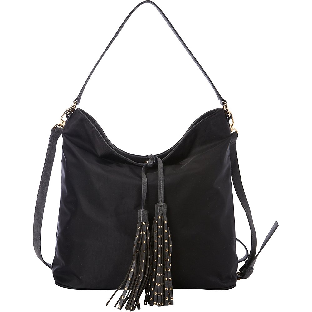 deux lux Linden Hobo Black deux lux Manmade Handbags