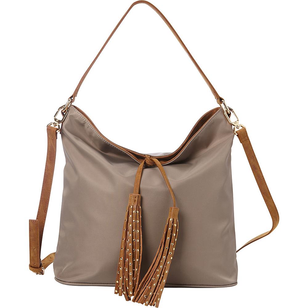 deux lux Linden Hobo Grey deux lux Manmade Handbags