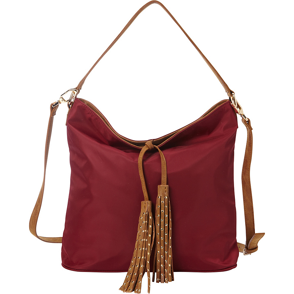 deux lux Linden Hobo Rhubarb deux lux Manmade Handbags
