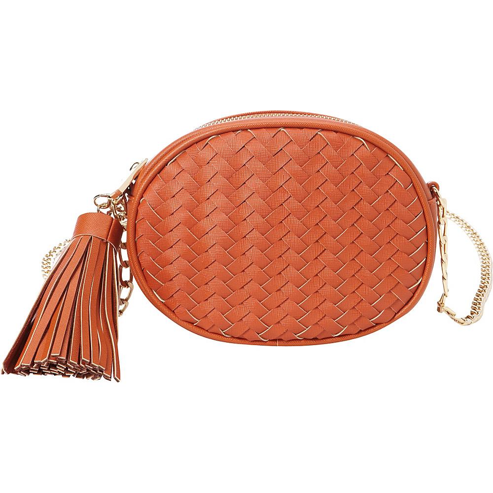 deux lux Mott Oval Messenger Pumpkin deux lux Manmade Handbags