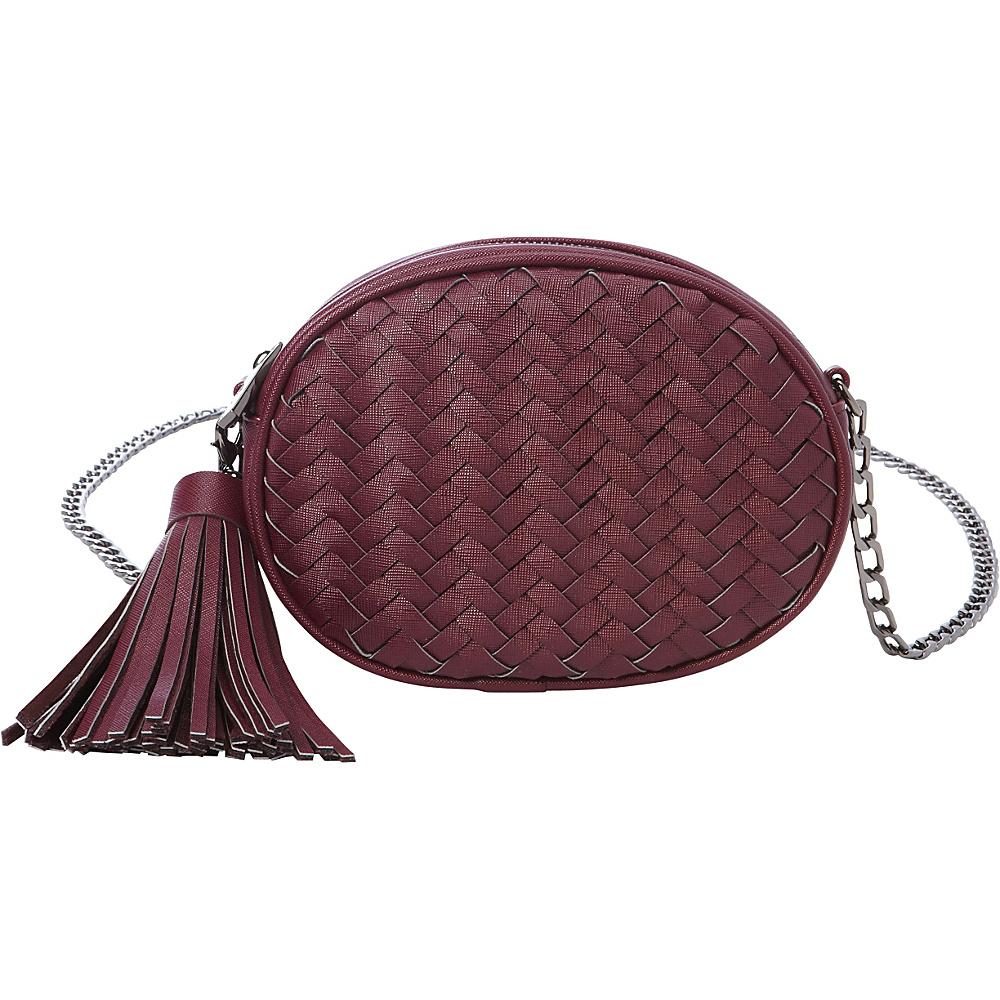 deux lux Mott Oval Messenger Wine deux lux Manmade Handbags