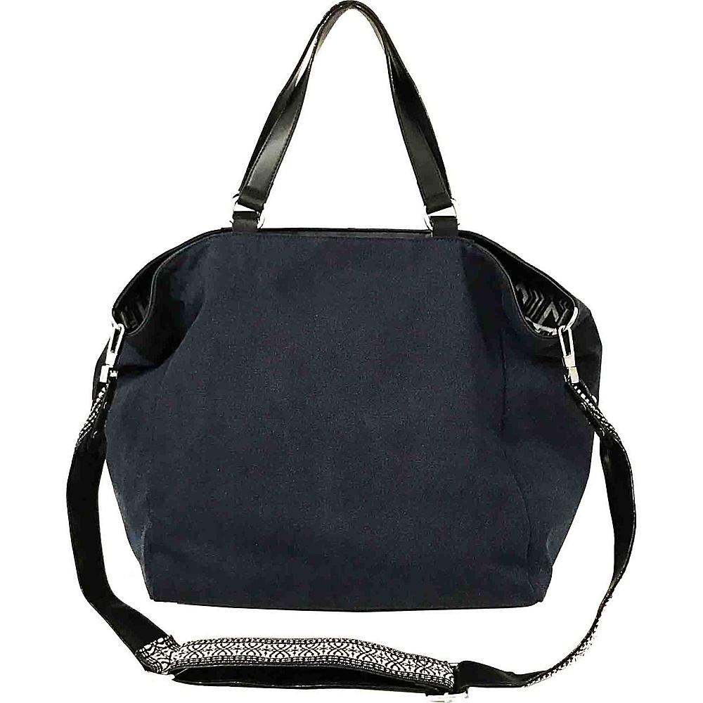 Sanctuary Handbags Downtown Tote Blue Denim Black Vachetta Sanctuary Handbags Designer Handbags