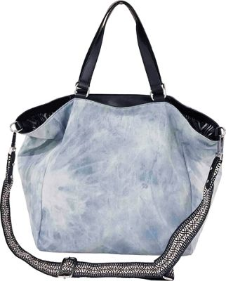 Sanctuary Handbags Downtown Tote Washed Denim/Black Vachetta - Sanctuary Handbags Designer Handbags