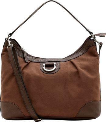 Emilie M Sydney Suede Hobo Mink - Emilie M Manmade Handbags