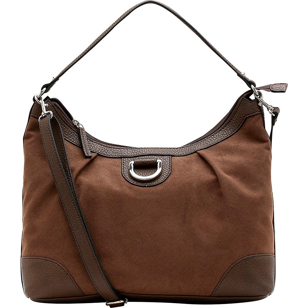 Emilie M Sydney Suede Hobo Mink Emilie M Manmade Handbags
