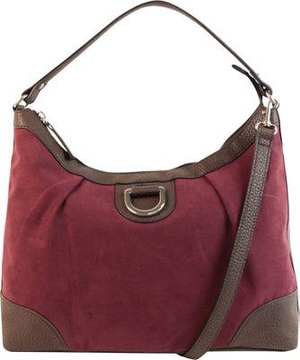 Emilie M Sydney Suede Hobo Plum - Emilie M Manmade Handbags