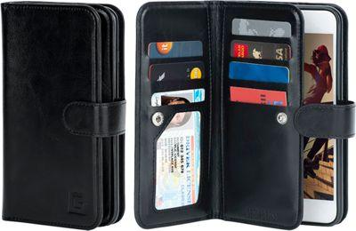 Gear Beast Dual-Folio Wallet Galaxy 7 Edge Case Black - Galaxy S7E - Gear Beast Electronic Cases