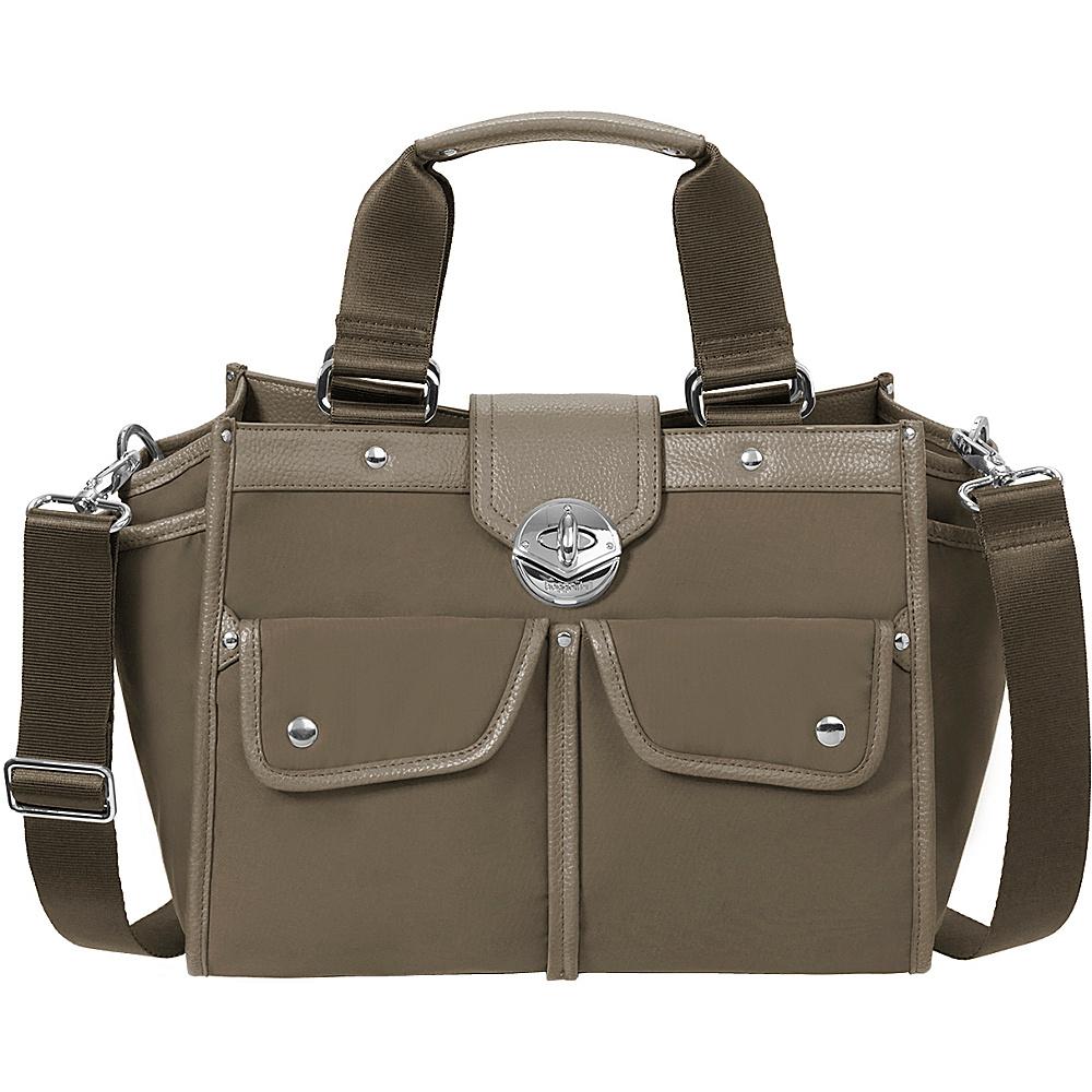 baggallini Stanhope Satchel Walnut - baggallini Fabric Handbags - Handbags, Fabric Handbags
