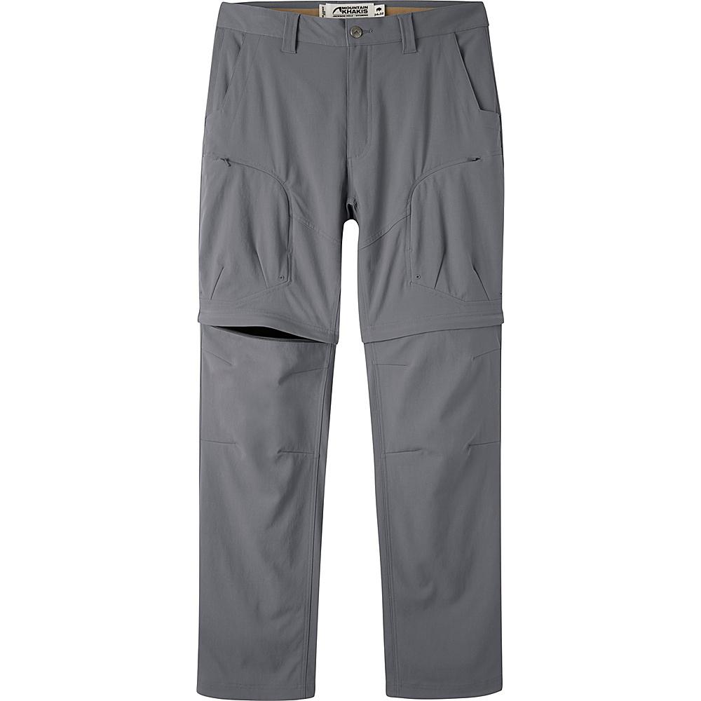 Mountain Khakis Trail Creek Convertible Pants 36 - 30in - Gunmetal - Mountain Khakis Mens Apparel - Apparel & Footwear, Men's Apparel