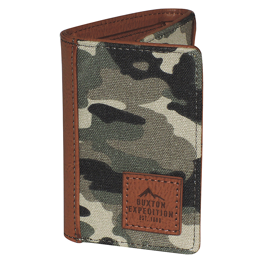 Buxton Expedition II Huntington Gear RFID Three-Fold Camouflage - Buxton Mens Wallets - Work Bags & Briefcases, Men's Wallets