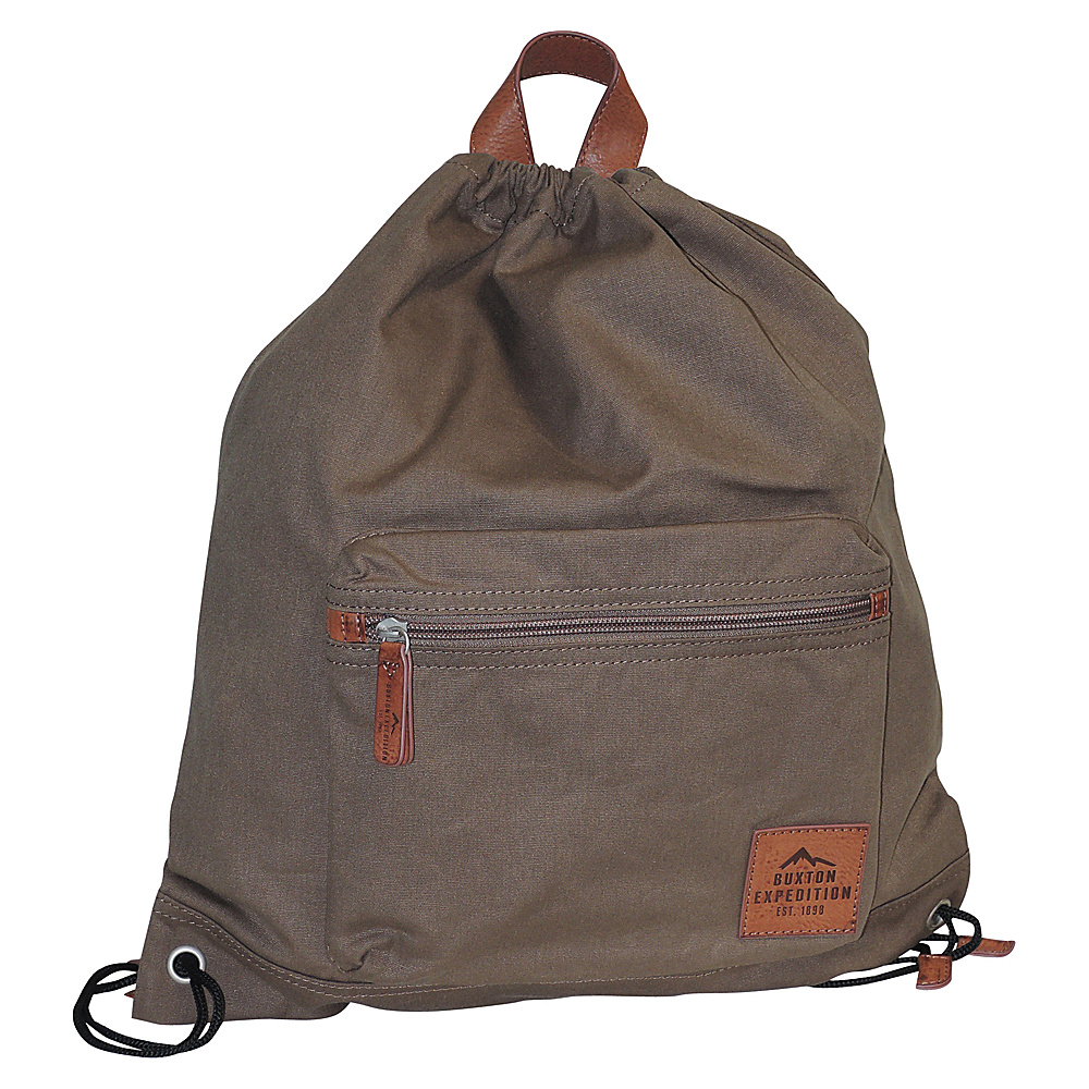Buxton Expedition II Huntington Gear Drawstring Backpack Olive - Buxton Everyday Backpacks - Backpacks, Everyday Backpacks