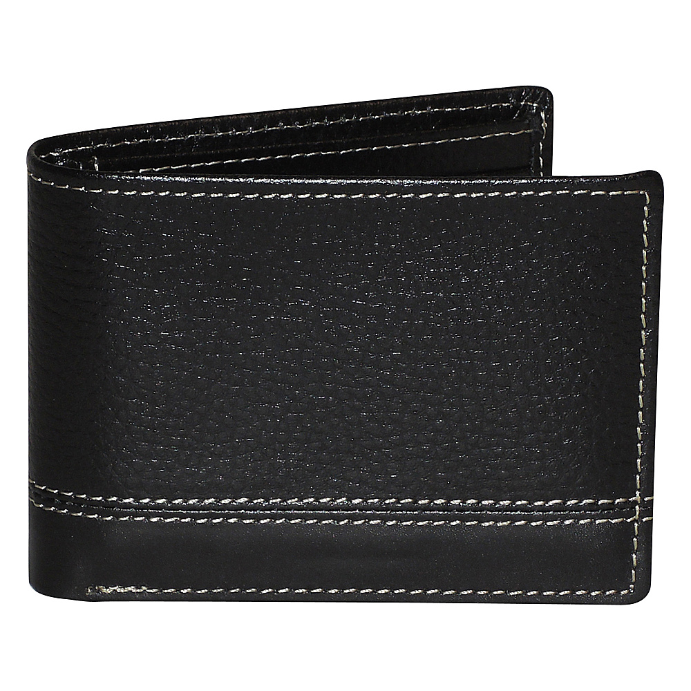 Buxton Monroe RFID Credit Card Billfold Black - Buxton Mens Wallets - Work Bags & Briefcases, Men's Wallets