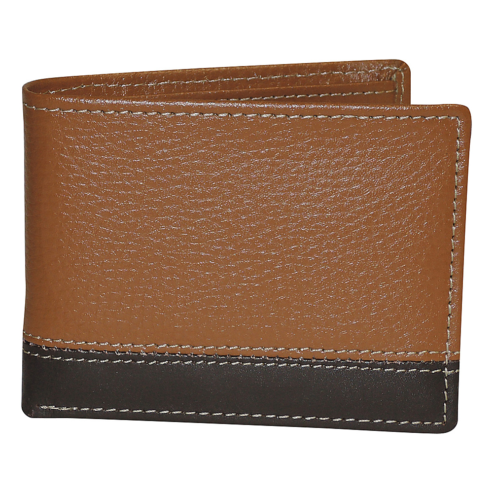Buxton Monroe RFID Credit Card Billfold Cognac - Buxton Mens Wallets - Work Bags & Briefcases, Men's Wallets