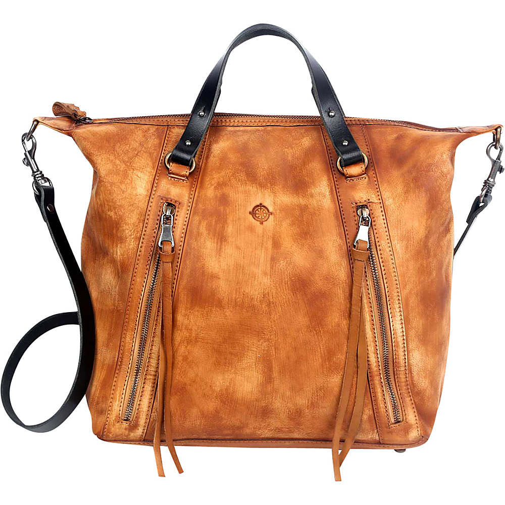 Old Trend Mossy Creek Satchel Chestnut Old Trend Leather Handbags