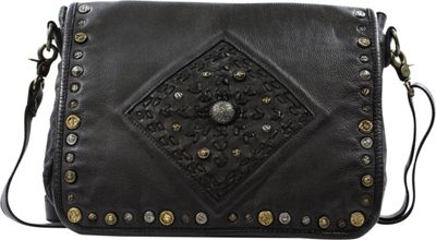 Old Trend Lone Road Messenger Bag Black - Old Trend Leather Handbags