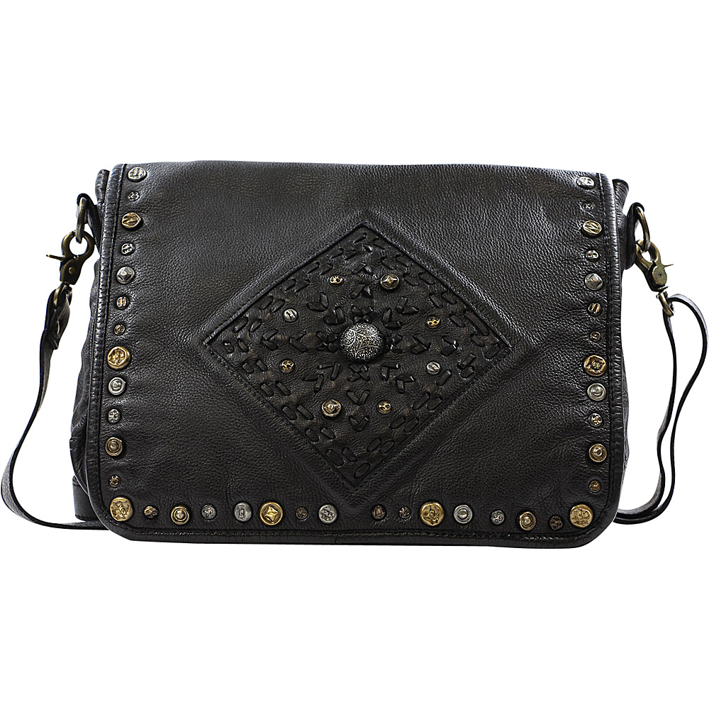 Old Trend Lone Road Messenger Bag Black Old Trend Leather Handbags