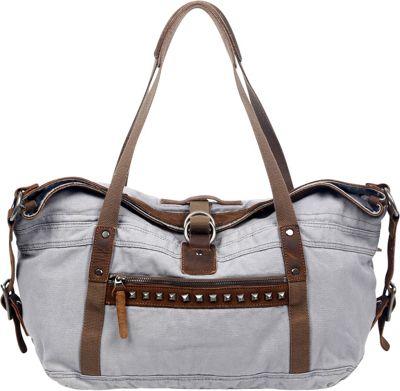 TSD Butterfly Satchel Grey - TSD Fabric Handbags