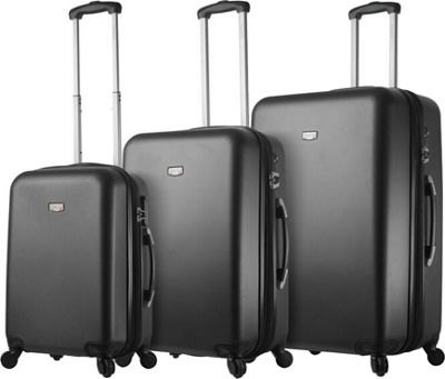 Mia Viaggi ITALY Arezzo Hardside 3 Piece Spinner Set Black - Mia Viaggi ITALY Luggage Sets