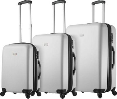 Mia Viaggi ITALY Arezzo Hardside 3 Piece Spinner Set White - Mia Viaggi ITALY Luggage Sets