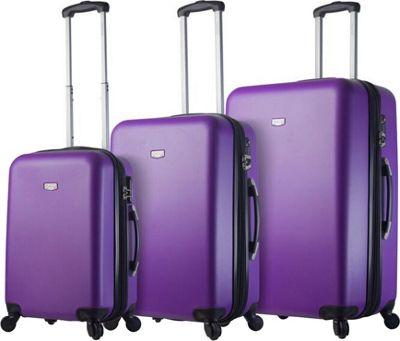 Mia Viaggi ITALY Arezzo Hardside 3 Piece Spinner Set Purple - Mia Viaggi ITALY Luggage Sets