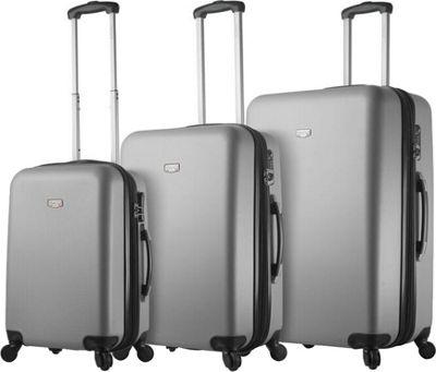 Mia Viaggi ITALY Arezzo Hardside 3 Piece Spinner Set Silver - Mia Viaggi ITALY Luggage Sets