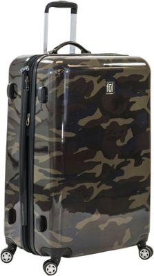 ful Ridgeline 24 Inch Spinner Rolling Luggage Camo - ful Hardside Checked
