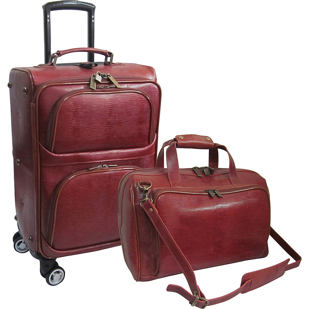 AmeriLeather 2 Piece Spinner Traveler Set Rust - AmeriLeather Luggage Sets - Luggage, Luggage Sets