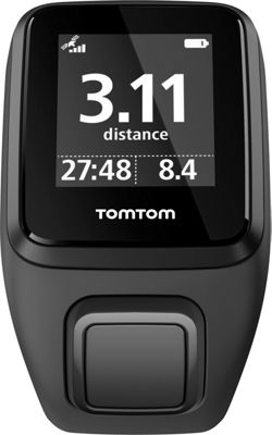 TomTom Spark 3 Cardio + Music GPS Fitness Watch Black Large - TomTom Wearable Technology