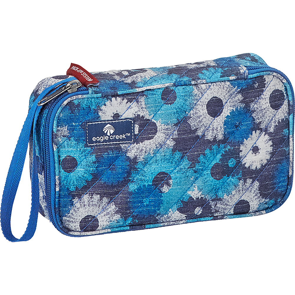Eagle Creek Pack-It OriginalQuilted Quarter Cube Daisy Chain Blue - Eagle Creek Travel Organizers - Travel Accessories, Travel Organizers