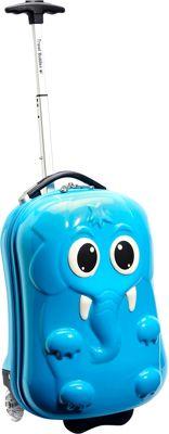 TrendyKid Travel Buddies Etta Elephant Bright Baby Blue - TrendyKid Softside Carry-On