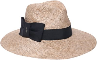 Gottex Marquesa Fedora Hat One Size - Natural/Black - Gottex Hats/Gloves/Scarves