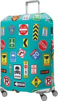Samsonite Travel Accessories Printed Luggage Cover - Large Street Signs - Samsonite Travel Accessories Luggage Accessories
