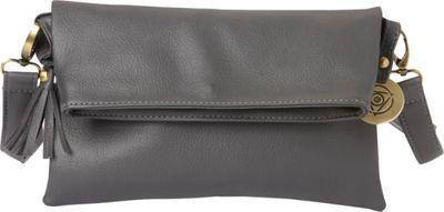 Maha Loka Be Great Clutch Grey - Maha Loka Manmade Handbags