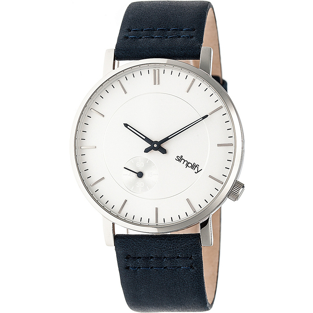 Simplify The 3600 Unisex Watch Navy Silver Silver Simplify Watches