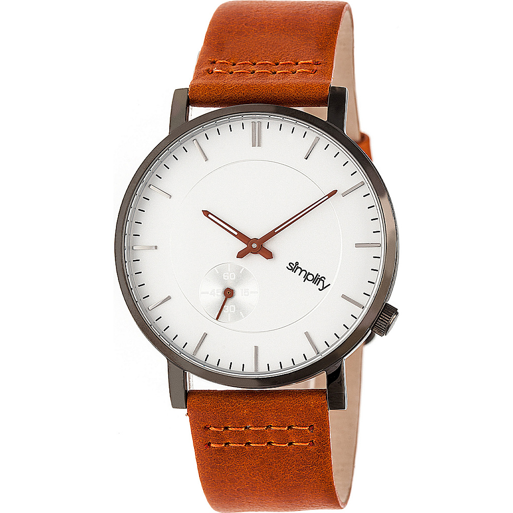 Simplify The 3600 Unisex Watch Orange Gunmetal Silver Simplify Watches