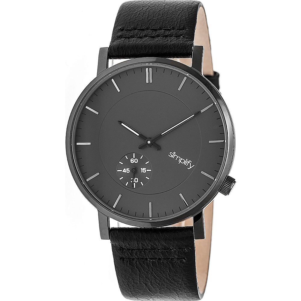 Simplify The 3600 Unisex Watch Black Gunmetal Charcoal Simplify Watches